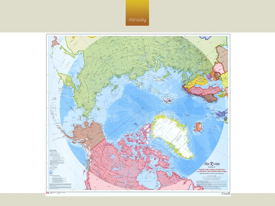 The Circumpolar map adopted by UNEP [United Nations Environment Programme] in respect of the International Polar Yeart 2008/9 and used by the Canadian government in all Arctic negotiations .